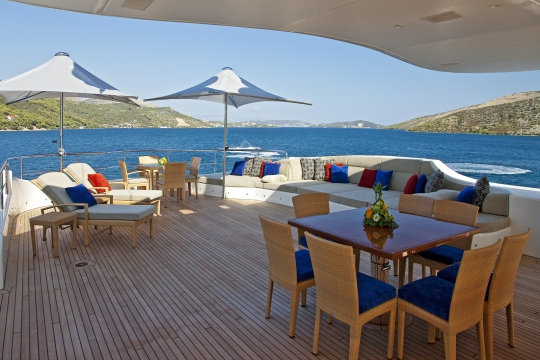 Motor Yacht Mary-Jean II Isa for charter - sundeck 1