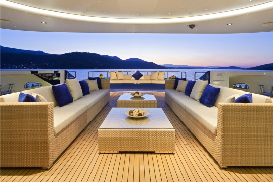 Motor Yacht Mary-Jean II Isa for charter - main deck aft