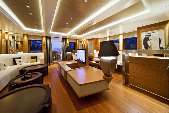 Motor Yacht Mary-Jean II Isa for charter - bridge deck lounge
