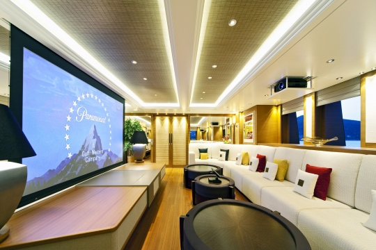 Motor Yacht Mary-Jean II Isa for charter - bridge deck lounge 2