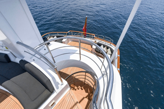 Motor Yacht Masteka 2 for charter - top deck observation area