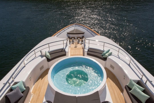 Motor Yacht Masteka 2 for charter - bridge deck jacuzzi 2