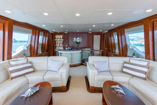 Motor Yacht Masteka 2 for charter - bridge deck salon and bar