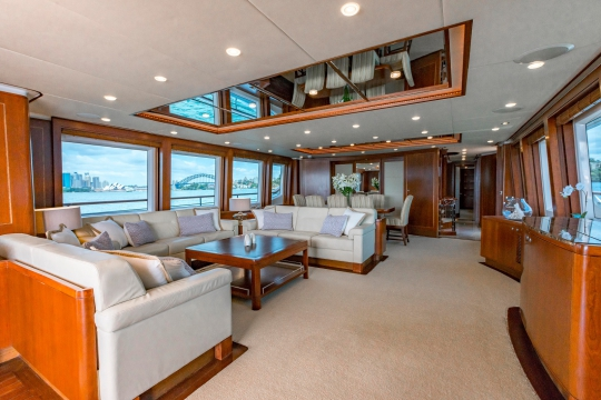 Motor Yacht Masteka 2 for charter - main deck salon and dining area