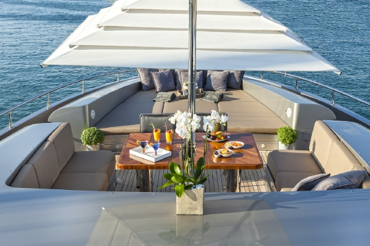 Motor Yacht My Toy AB yachts for charter - fore deck lounge 2