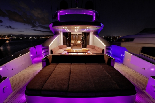 Motor Yacht My Toy AB yachts for charter - aft deck night