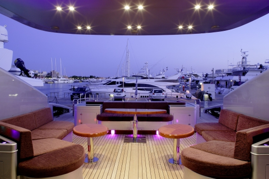 Motor Yacht My Toy AB yachts for charter - aft deck tables