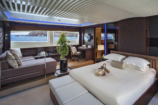 Motor Yacht My Toy AB yachts for charter - master cabin