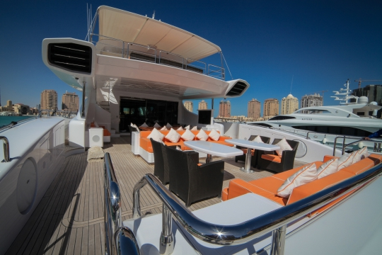 Motor Yacht Al Asmakh for sale - Aft deck seating