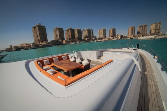 Motor Yacht Al Asmakh for sale - foredeck seating