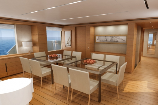 Motor Yacht Martinique - dining saloon 2