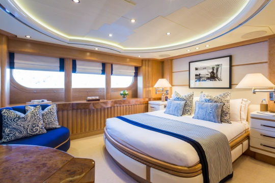 Motor Yacht QM of London Benetti for charter - vip cabin