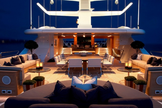 Motor Yacht Sealyon - sundeck night