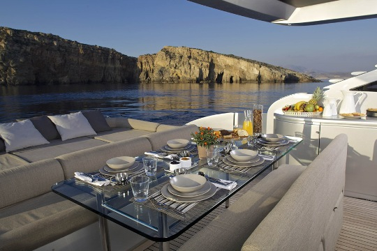 Motor Yacht Solaris - outdoor dining