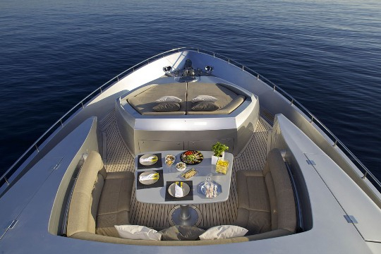 Motor Yacht Solaris - forward deck