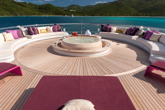 Motor Yacht Solandge - seating area