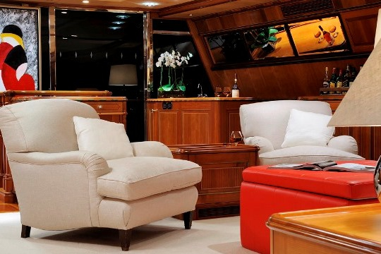 Sailing Yacht Drumbeat Alloy yacht for charter - seating saloon