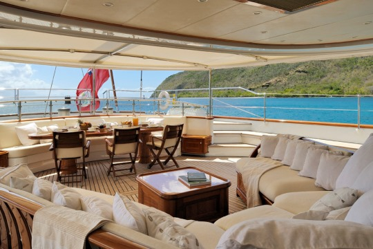Sailing Yacht Drumbeat Alloy yacht for charter - aft deck