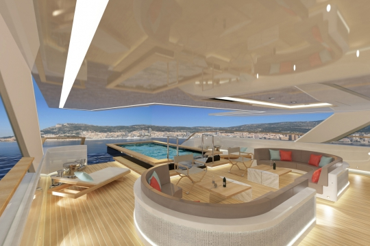 Motor yacht Blade 52 - main deck seating