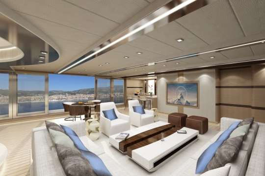 Motor yacht Blade 52 - bridge deck