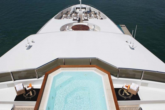Motor Yacht Apogee for sale - aerial