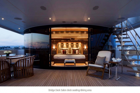 Heesen yacht Alive for sale - Upper deck master stateroom