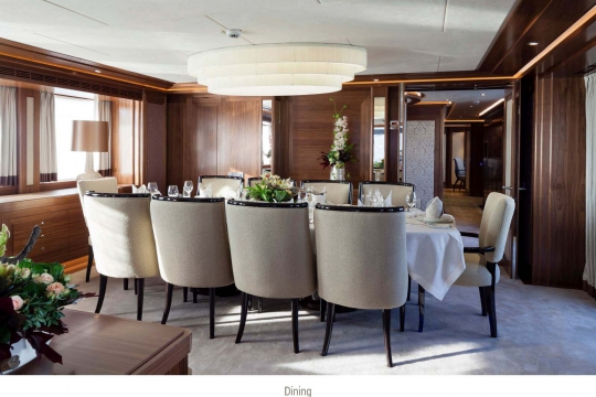 Heesen yacht Alive for sale - dining