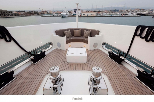 Heesen yacht Alive for sale - fore deck