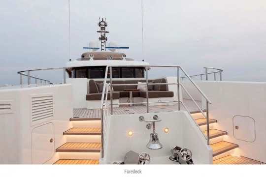 Heesen yacht Alive for sale - foredeck