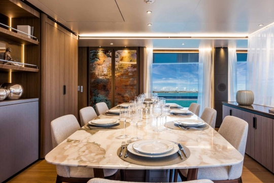Custom Line 120 - Custom Line 120  yacht for sale - main deck dining.jpg