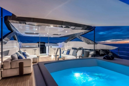 Custom Line 120 - Custom Line 120  yacht for sale - flybridge 2.jpg