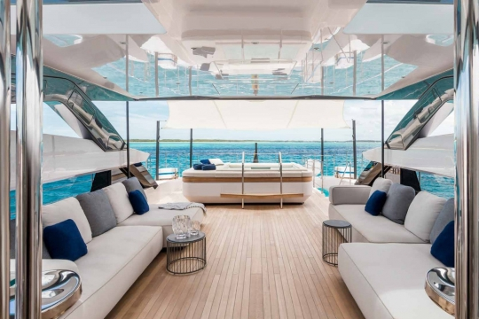 Custom Line 120 - Custom Line 120  yacht for sale - flybridge 3.jpg