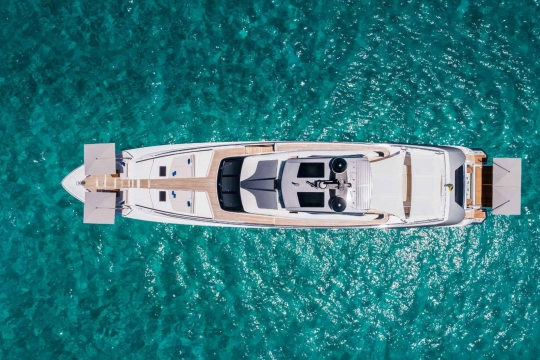 Custom Line 120 - Custom Line 120  yacht for sale - aerial.jpg