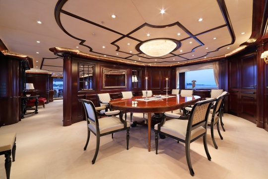 Motor Yacht Eleni CBI navi for sale - dining room