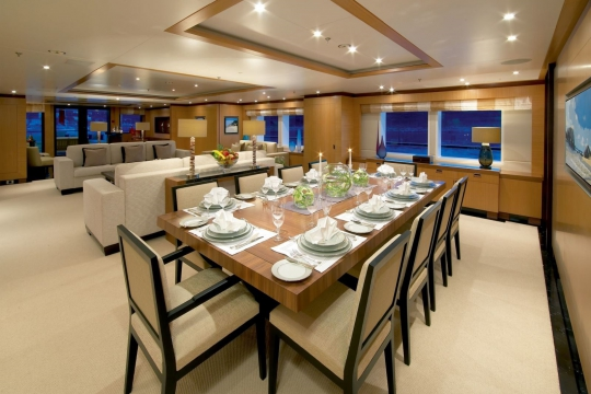 Andreas L  - benetti yacht for charter andreas L - main deck dining.jpg