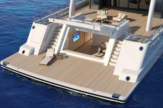 Amels 200 - New build Amels 200 yacht for sale - beach club.jpg