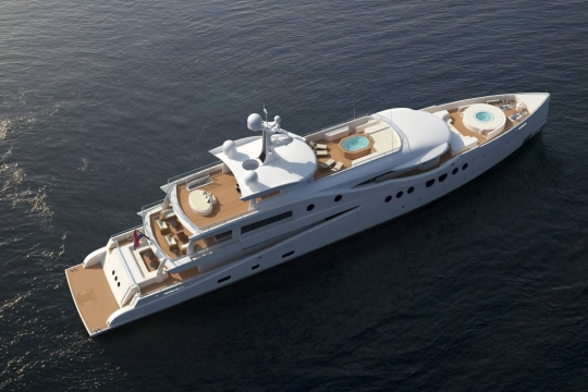 Amels 206 - New buils Amels 206 yacht for sale - aerial.jpg