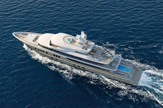 Amels 242 - New build Amels 242 yacht for sale - aerial.jpg