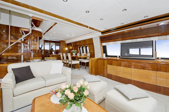 Motor Yacht Anne Viking Princess for charter - lounge & dining