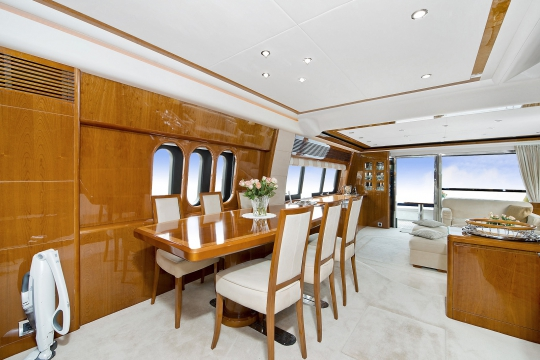 Motor Yacht Anne Viking Princess for charter - dining room