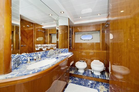 Motor Yacht Anne Viking Princess for charter - master bathroom