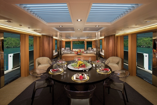 Motor Yacht Big Fish for charter - dining room
