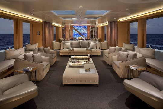 Motor Yacht Big Fish for charter - main salon