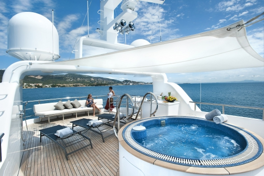 Motor Yacht Christina G Kingship for charter - sun deck & jacuzzi