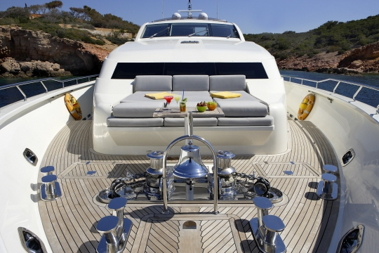 Motor Yacht Dragon Couach for charter - foredeck