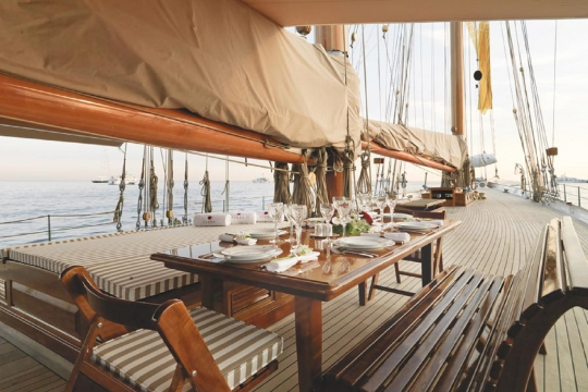 Sailing Yacht Elena for charter - deck