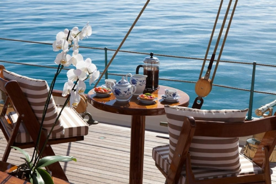 Sailing Yacht Elena for charter - breakfast