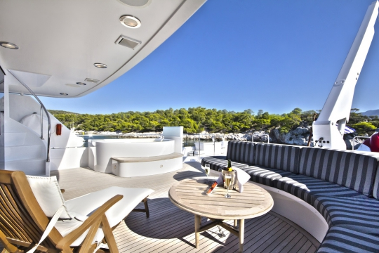 Motor Yacht Endless Summer Westport for charter - upper deck