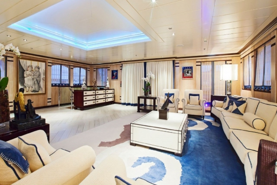 Motor Yacht Force Blue Royal Denship for charter - main deck