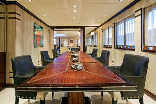 Motor Yacht Force Blue Royal Denship for charter - dining room